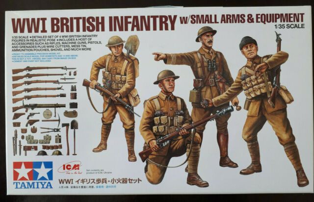 tm32409a/ TAMIYA - WW I – British Infantry with small Arms & Equipment - 1:35