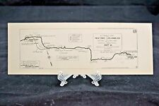 1915 Automobile Club of Southern CA Strip Map Winslow to Flagstaff  #13 (A19)