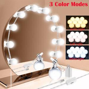 Make-up-Mirror-Lights-10LED-Hollywood-Kit-Bulbs-Wall-Vanity-Light-Dimmable-Light