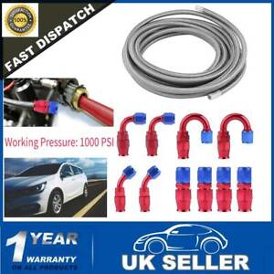 Braided Stainless Steel Fuel Hose AN6 Fuel Line Fitting Kit 6m Brand New 20FT