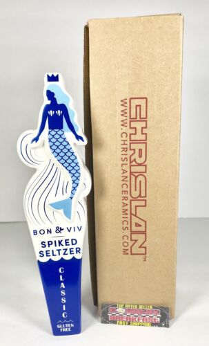 """Brand New In Box! Bon /& Viv Spiked Seltzer Mermaid Beer Tap Handle 11"""" Tall"""