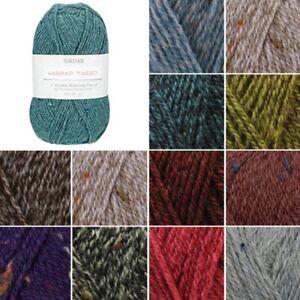 Sirdar-Harrap-Tweed-DK-Double-Knitting-Knit-Crochet-Crafts-50g-Ball-Wool