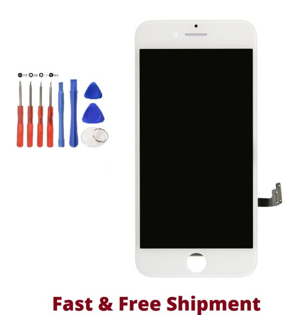 "White LCD Replacement Screen 3D Touch Digitizer Asembly for iPhone 7 4.7 "" TOOLS"