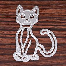 Katze Stencil Cutting Dies DIY Scrapbooking Karte Tagebuch Stanzschablone Dekor