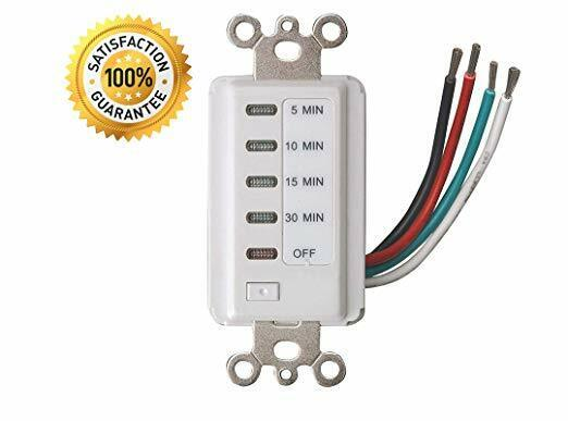Electrical Bathroom Fan Auto Shut Off Countdown Switch Timer 30 15 10 5 Minute For Sale Online