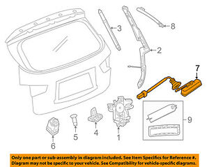 PATHFINDER LIFTGATE RELEASE NEW OEM NISSAN REAR TAILGATE OPEN SWITCH
