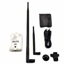 Alfa AWUS036NHR V2 Wireless N USB Adapter 2000mW + 9dBi Omni Antenna + U-Mount