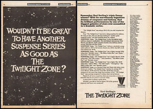 THE-TWILIGHT-ZONE-Original-1981-Trade-print-AD-TV-promo-poster-Rod-Serling