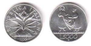 1999 Italia Lire 5000 Argento Verso Il 2000 La Solidarietà Fior Di Conio Unc Ghbl2vmn-07233545-741255826