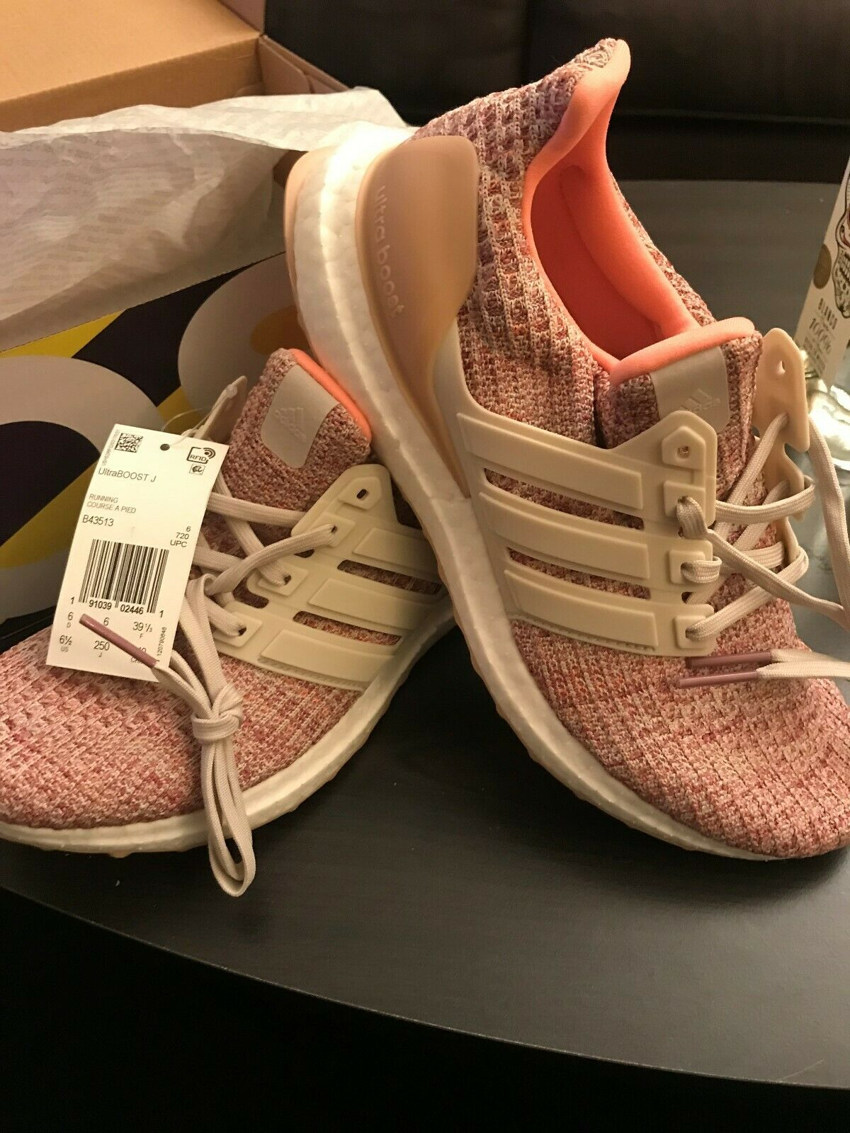 Adidas Kids UltraBoost shoes  Kids Size 6.5 , Womens size 8  Pink