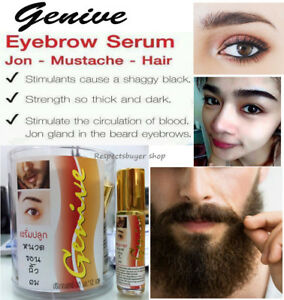 Details about Genive Growth Serum Fast Speed Eyebrow Lash Hair Mustache  Beard Thickness 10 ml