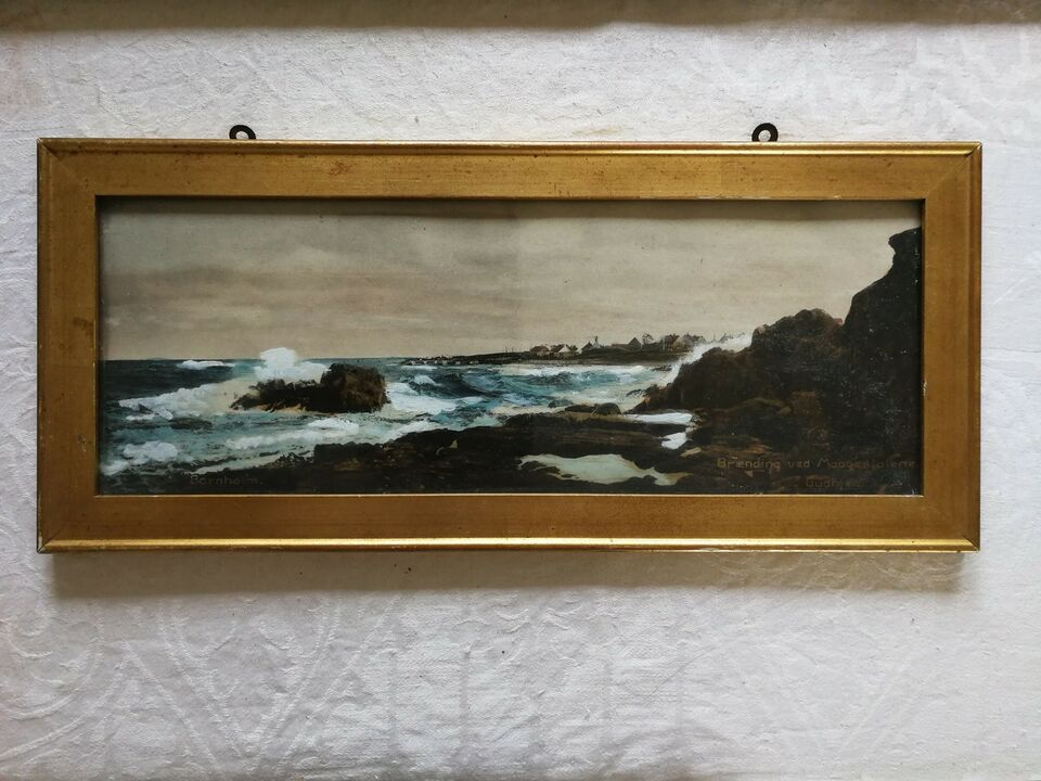 Akrylmaleri, Eyvind Lassen, motiv: Landskab