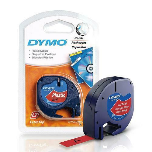 Dymo LetraTag 91333 Polyester Tape 91333 (Red Plastic)