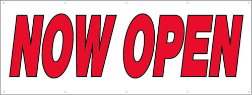 rw 4x8 ft NOW OPEN Vinyl Banner Sign New