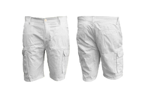 Pantaloncini da uomo in denim stretch Slim Fit Regolare Jeans Mezza SHORTS BLU SCURO LWHITE