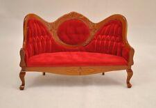 Victorian Sofa Settee D6414 miniature dollhouse furniture 1pc 1/12 scale
