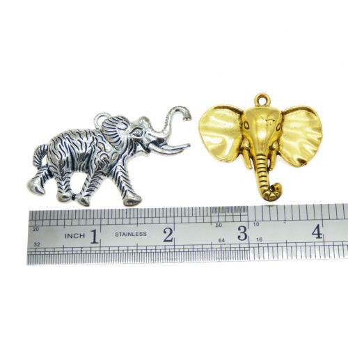 10 Stk Gemischt Sortiert Legierung Elefanten Tiere Charme Anhänger DIY Handwerk