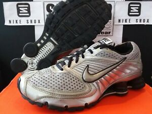 reputable site 32ea4 e5d58 Details about Nike Shox Turbo+ 8 - Silver / Med Grey - Black - 344951 904 -  Mens 8 / Wmns 9.5