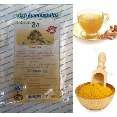 1 packages (20 small Bags) 100% Ginger Tea Organic Healthy Herbal Drink