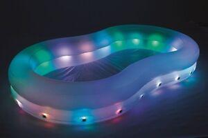 Details zu Schwimmbecken Swimming Pool LED Swimmingpool Beleuchtet Pool  Planschbecken