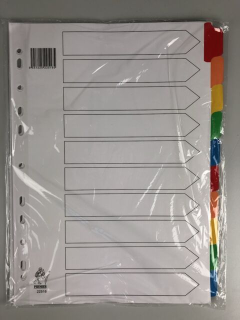 Premier Register Kartonregister DIN-A4 Farbunterteilt Ordnungssystem CSL-22516
