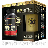 Optimum Nutrition 2.27kg 5lb 100% Whey Protein + Gold Stainless Steel Shaker