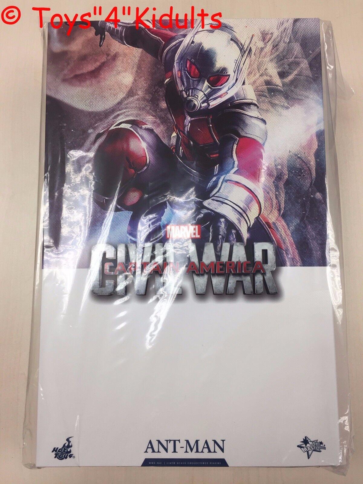 Hot Juguetes MMS 362 Capitán América de la guerra civil Antman Ant Man Scott Lang Paul Rudd