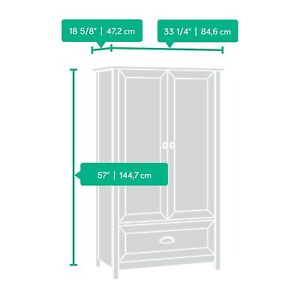 Image Is Loading Sauder 419451 419451 Armoire  Wardrobe Furniture County Line