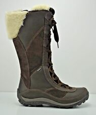 womens merrell prevoz waterproof winter brown leather boots 20258