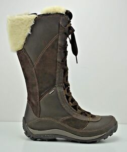 688f372c8f5 Image is loading Womens-Merrell-Prevoz-Waterproof-Winter-Brown-Leather-Boots -