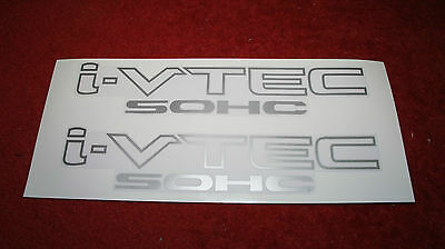 2 X Honda i V-TEC IVTEC SOHC Decals Stickers  Any Colour
