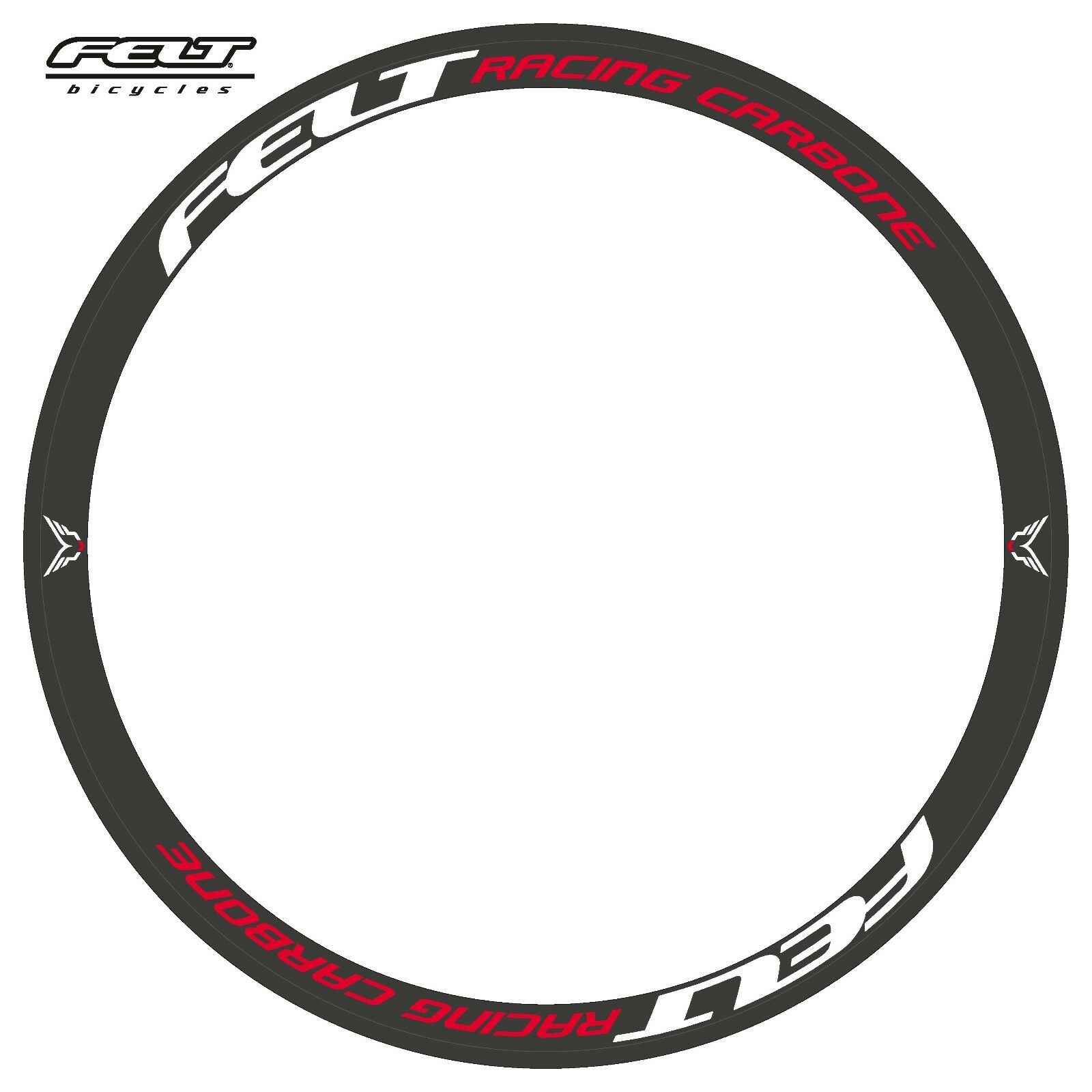 FELT RACING CARBONE REPLACEMENT RIM DECAL SET FOR 38mm RIMS