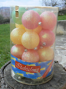 NUOVO Italvalmet 24 sfere palle di Natale infrangibili 1083