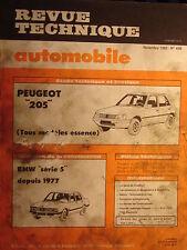 revue technique PEUGEOT 205 GL GR SR GT  / français