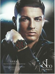 Jacob Co Cristiano Ronaldo Watch Print Ad Ebay