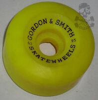 G&s / Gordon & Smith - 62mm 95a - Skateboard Wheels - Yellow - 80s Old School