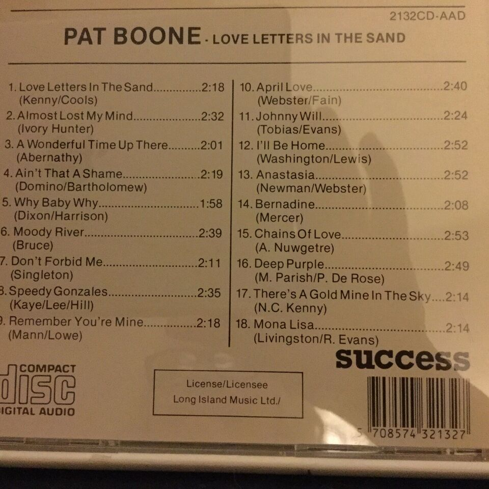 Pat Boone: Love letters in the Sand, pop
