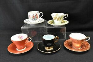 Aynsley-Lot-of-5-Cups-amp-Saucers-Various-Patterns