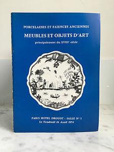 Catalogue Di Vendita Mobili E Articolo Arte Principalmente Del XVIII 1974
