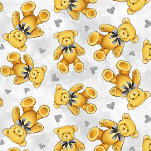 Teddy Bear Anti Pill Fleece Fabric By The Yard Ebay