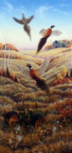 Mark Daehlin Flushed II John Deere Pheasant Print Signed and Numbered 9 x 19