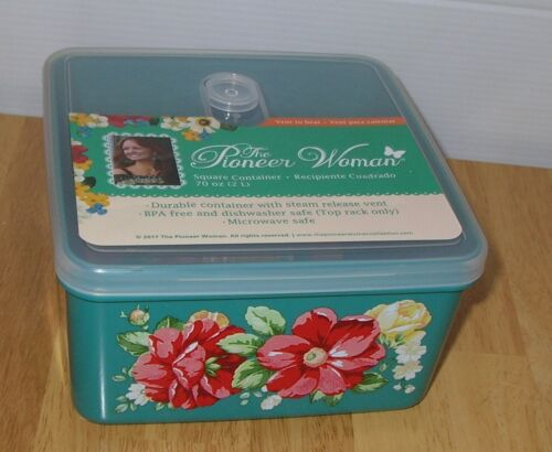 Pioneer Woman Food Storage Container Food Vented 70oz Vintage Floral Farmhouse