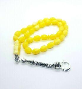 33-yellow-kahraman-kehribar-Smell-Tesbih-Tasbih-Misbaha-Dhikr-Prayer-Beads-Amber