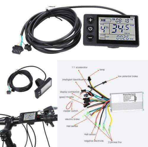 24-48V Bicycle E-bike Scooter Brushless DC Motor Speed Controlle+LCD Display SD