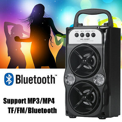 BT Wireless Double Horn Portable Speaker Super Bass For Cell Phone/PC HOT
