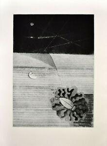 Jiri John: Überwintern (1968). Signierte Original-Radierung.