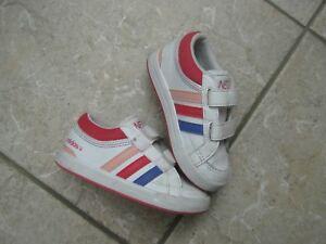 Halbschuhe 5Schuhe Klettverschluss Gr22 Neo Details UK zu Mädchen 5 adidas Sneakers OikZuPXT