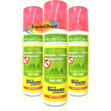 3x MoustiCare Mosquito & Insect Repellent Skin Spray Max Strength 75ml Deet Free