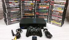Sony PlayStation 2 PS2 Black Fat Original Console system with games