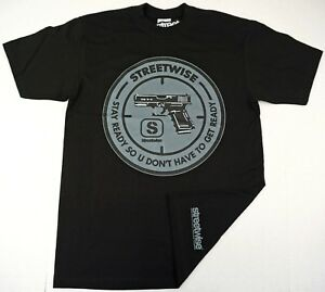 STREETWISE-STAY-READY-T-shirt-Urban-Streetwear-Tee-Adult-L-4XL-Black-NWT